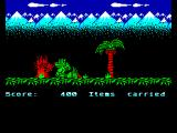 Little Puff in Dragonland ZX Spectrum Destroying tree stump with fire breath
