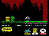 Little Puff in Dragonland ZX Spectrum Eat hamburger for some extra points
