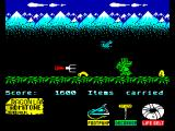 Little Puff in Dragonland ZX Spectrum Watch out for worms and giant hornet