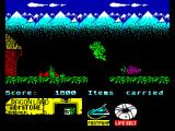 Little Puff in Dragonland ZX Spectrum During big jump over dangerous hole