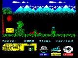 Little Puff in Dragonland ZX Spectrum With tin hat that coconut won't hurt you