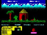 Little Puff in Dragonland ZX Spectrum Let's take a little rest between palm & hut