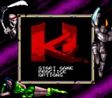 Killer Instinct Game Boy A main menu with some colors added.
