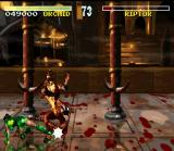 Killer Instinct SNES Orchid applies a good sweep in Riptor.