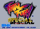 Fatal Fury Special Neo Geo Title screen.