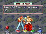 "Fatal Fury Special Neo Geo ""How to Play"" screen: Terry Bogard and Geese Howard are demonstrating the basic commands."