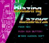 Blazing Lazers TurboGrafx-16 Title Screen