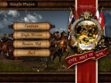 Cossacks: The Art of War Windows Single player menu offers you campaigns, single missions, and/or skirmish battles