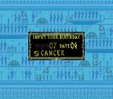 Somer Assault TurboGrafx-16 Input your birth date.  It will lead to a special suprise later in the game.