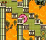 Somer Assault TurboGrafx-16 Level 4 is a narrow staircase with a fiery background.
