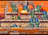 Spinmaster Neo Geo In the last stage fighting lots of soldiers