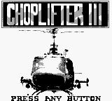 Choplifter III Game Boy Title screen