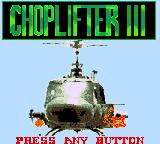 Choplifter III Game Gear Title screen
