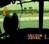 Choplifter III Game Gear Begining a level