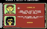 Remote Control Commodore 64 The character selection screen