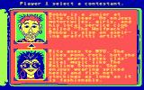 Remote Control DOS The character selection screen