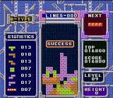 Tetris & Dr. Mario SNES Clear 25 lines (and put the best record only with it) in Tetris B-Type mode is the main objective.
