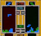 Tetris & Dr. Mario SNES Tetris 2PLAYER GAME in course: both are starting to organize the best attack!