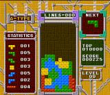 Tetris & Dr. Mario SNES In Tetris A-Type mode, you play until the stack crosses the top: is here where the player put the best records!