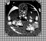 Samurai Shodown Game Boy Intro frame – Haohmaru is cutting some lanterns as part of its hard training.