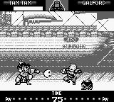 Samurai Shodown Game Boy Tam–Tam's skull goes in direction of a fainted Galford... ;-)