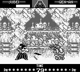 Samurai Shodown Game Boy Jubei execute your fast-sword move trying avoid a possible Gen-An's counter-attack.