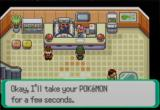 Pokémon Emerald Version Game Boy Advance Healing up at the Pokémon Center
