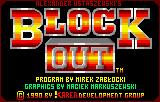 Blockout Lynx Title Screen