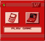 "Mission: Impossible Game Boy Color The main menu: choose between start a new game or verify your ""Agent Organizer""."