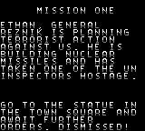 Mission: Impossible Game Boy Color Your first mission.