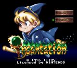 Incantation SNES Title screen