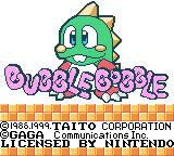 Classic Bubble Bobble Game Boy Color Title