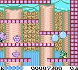 "Bubble Bobble Game Boy Color Got the first letter in the word ""EXTEND"""