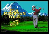 PGA European Tour Genesis Title screen
