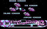 Cloud Kingdoms DOS Level selection screen.  Note that while you only get four colours at a time, which four you get... (CGA)
