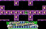 "Cloud Kingdoms DOS Bridge Kingdom, where no jumping is allowed (on ""magnet"" squares) over enemies. (EGA)"