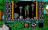 Little Puff in Dragonland Amiga Falling down on a line of blades is deadly