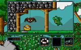 Little Puff in Dragonland Amiga Avoid the spider and get first envelope