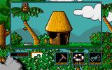 Little Puff in Dragonland Amiga Let's take a little rest between palm & hut
