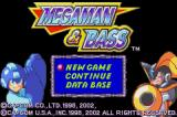 Mega Man & Bass Game Boy Advance Title Screen