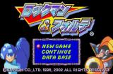 Mega Man & Bass Game Boy Advance Japanese Version Title Screen