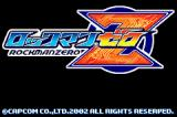 Mega Man Zero Game Boy Advance Japanese Version Title Screen