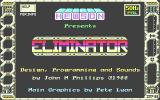 Eliminator Atari ST Title screen