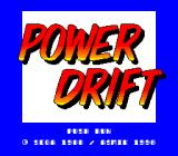 Power Drift TurboGrafx-16 Title