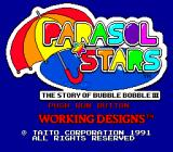Parasol Stars: The Story of Bubble Bobble III TurboGrafx-16 Title