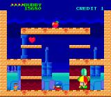 Parasol Stars: The Story of Bubble Bobble III TurboGrafx-16 Holding an enemy with your parasol