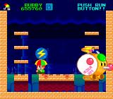 Parasol Stars: The Story of Bubble Bobble III TurboGrafx-16 Carrying a thunderbolt to use against the boss