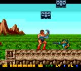 Rastan Saga II TurboGrafx-16 The blocks above Rastan will squash him if he does not get out of the way