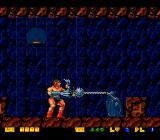 Rastan Saga II TurboGrafx-16 Rastan is hit by an enemy with an extendable ball-chain
