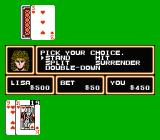 Casino Kid NES Playing blackjack